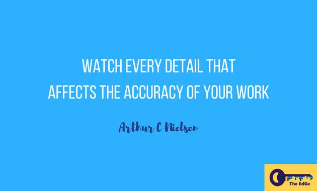 Apa Kata Arthur C Nielsen Tentang Akurasi Pekerjaan - JualGudang