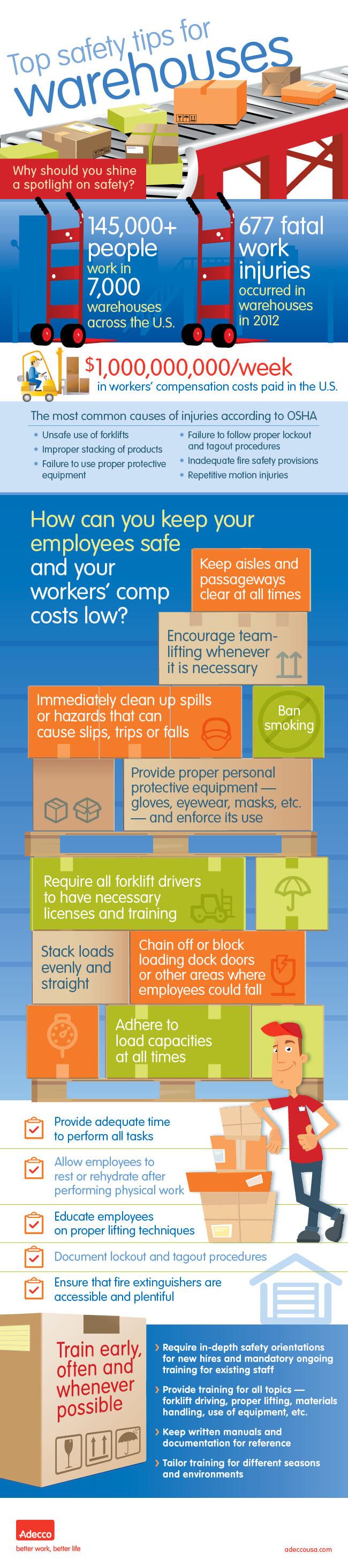 Tips Keselamatan Kerja di Gudang - Adecco - Infografis - JualGudang