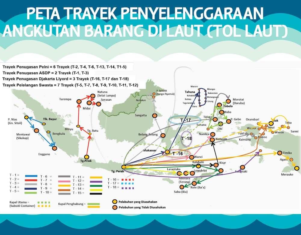 Peta Jalur Tol Laut Indonesia