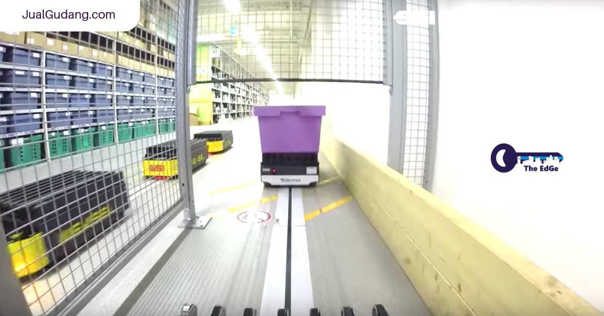 Serunya Perjalanan Kendaraan Otomatis di dalam Gudang Hermes Fulfillment - JualGudang
