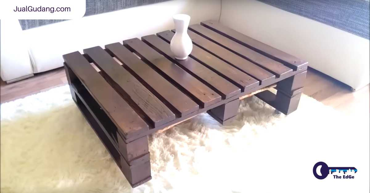 Meja Kopi Dari Palet Untuk Acara Lesehan di Gudang - JualGudang