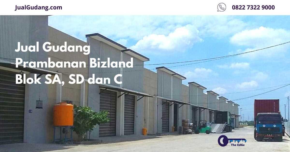 Jual Gudang Prambanan Bizland Blok SA, SD dan C - Listing - JualGudang - website