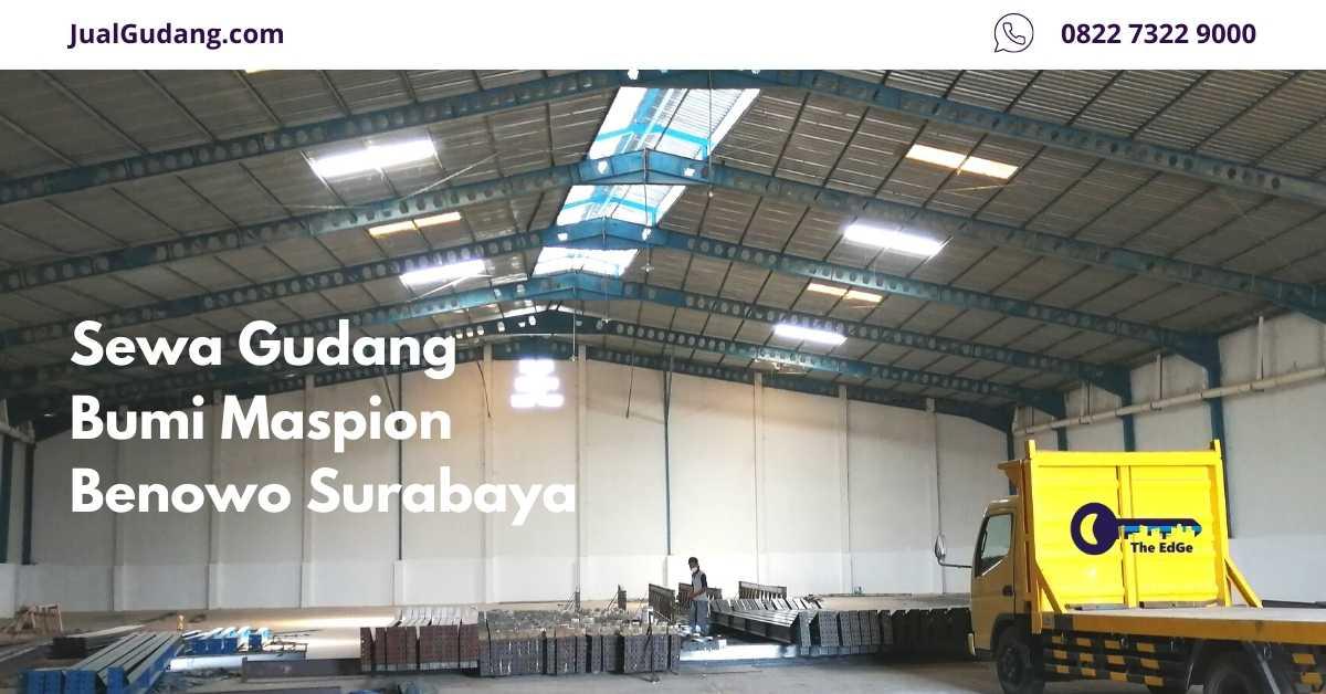 Sewa Gudang Bumi Maspion Benowo Surabaya - Listing - JualGudang